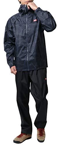 [エドウィン] レインウェア 上下セット レインコート レインスーツ 防水 自転車 通勤 通学 アウトドア 父の日 ギフト 雨具 撥水 ネイビー L