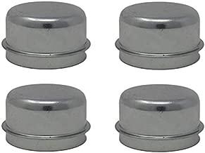 2 Pairs of Steel Dust Caps for 2,000 lbs - 3,500 lbs (2.0K - 3.5K) 5 Lug/4 Lug Axle Hubs; DC-200 (4 Included)