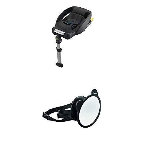 Maxi-Cosi EasyFix Isofix base für Babyschale CabrioFix, schwarz + Großer Baby Rückspiegel für alle Autos, Autospiegel, Sicherheitsspiegel, Rücksitzspiegel