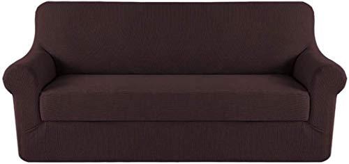 Mazu Home Elastic Sofa Set 2 Stück Kissenbezug Sofa-Set Möbelset (Bodenbezug und Kissenbezug) insgesamt 3 Stück Funktionale Luxus Textur Jacquard (Salbei)