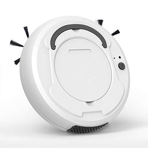 LHY Kitchen Robot aspiradora, Barrer Hogar Inteligente/Aspirar/Mopping Integrado de Tres-en-uno automático de Carga USB Vacuum Cleaner,Blanco