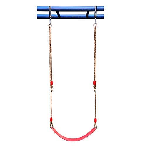 Columpio Jardín al Aire Libre Infantil Swing Suave, cómodo y Duradero Silla Colgante de Juguete, rodamiento de 150 kg, fácil de Llevar (Color : Red)