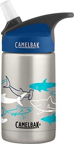 CamelBak Eddy Kids Vacuum Insulated Stainless Steel Bottle 12 oz, Sketchy Sharks