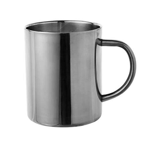 tianxiangjjeu RVS Beker met Handvat Koffie Mok Draagbare Veilig Meerdere Gebruik Drank Koffie Container 1#