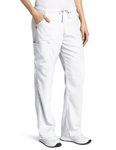 Carhartt Damen Scrubs Workflex Cargohose mit 4 Taschen - Weiß - XX-Large