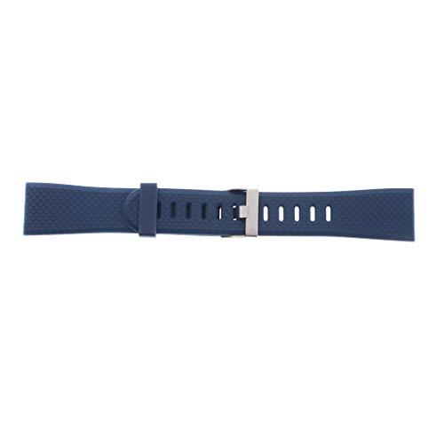 F Fityle Correas De Banda De Repuesto De Silicona Clásicas con Hebilla De Acero Inoxidable para Reloj Inteligente 116 Plus Smartwatch, 20 Mm - Azul