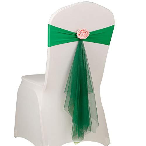 jingyuu Sillón Decoración Silla Cover Fundas de Silla Silla Asiento Decoración para Bodas, Fiestas o como cumpleaños dekoratio1Pieza de Color Verde