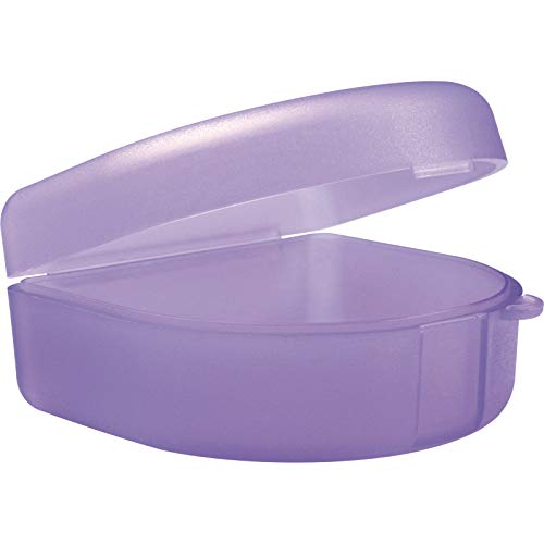 wellsamed Zahnspangendose Dento Box lila, Dose (auch für Aufbissschiene, Knirscherschiene) 1 Stück
