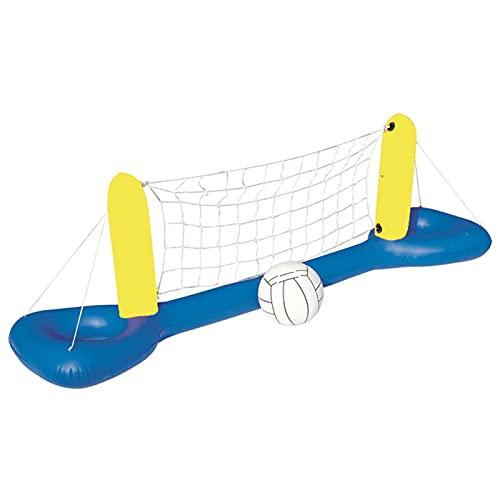 LARY Nadmuchiwany zestaw do gry na basenie zabawka do siatkówki basenowej, pływający basen pływający lato pływacki, zabawka do pływania 1 piłka w zestawie, gry na basen dla dorosłych i rodziny, boisko do siatkówki