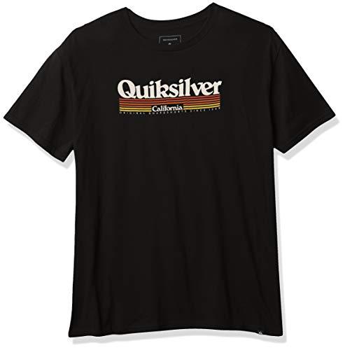 Quiksilver CA Lineup tee Camisa, Negro, M para Hombre
