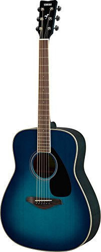 Yamaha FG820 Solid Top Acoustic Guitar, Sunset Blue