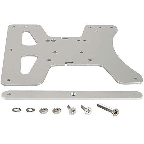 XBaofu 1set Aluminium Y-Schlittenplatte Kit Beheizte Bed unterstützt 3-Punkt-Leveling for Creality Ender 3 Ender-3 Pro Ender-3S 3D-Drucker