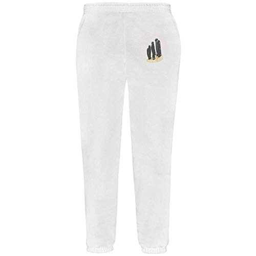 Azeeda Small 'Knife Holder' White Adult Joggers / Sweatpants / Bottoms (JO00004297)