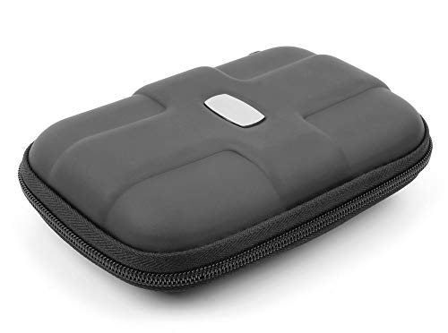 DURAGADGET Black Rigid Protective Pouch - Suitable for Use with LaCie Rugged SSD Pro | Rugged SSD | Rugged Boss SSD | Rugged Raid Pro | Rugged USB-C | Rugged Thunderbolt USB-C External Hard Drives