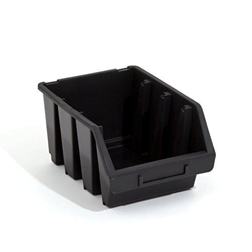 Lot de 30 boites de rangement bacs a bec en noir ERGO-Box taille 3