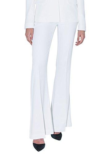 Stefanie Renoma Pantaloni di Smoking Bianco Large Bianco 42