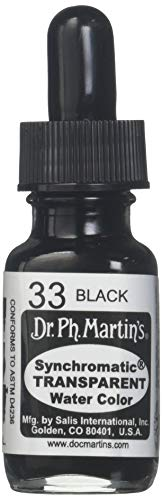 Dr. Ph. Martin's Synchromatic Transparent Water Color, 0.5 oz, Black (33)