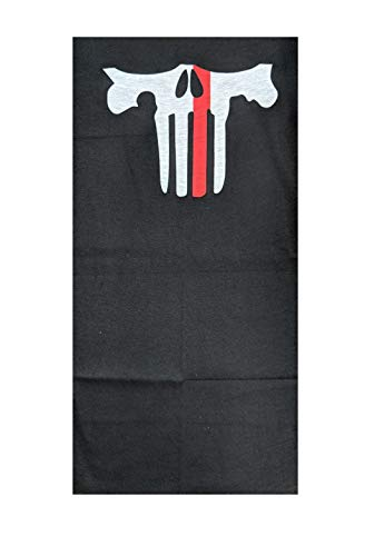 Icon Sportswear Themed Neck Gaiter, Balaclava, Neck Warmer (Punished Red Line)