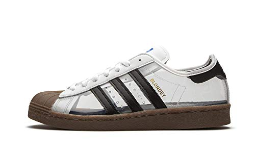 adidas Superstar 80s by Blondey (White/Core Black/Gum5) Men's Skate Shoes-9.5