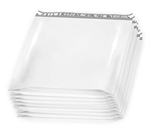 10 Pack Large Poly Mailers 28 x 30 x 6 Gusseted Poly Mailer. XX-Large Poly Shipping Bags for Clothes. White Shipping envelopes. White Plastic mailing Bags. Peal and Seal. Packaging and Packing.