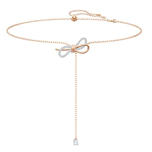 Swarovski Collana a Y Lifelong Bow, Bianco, Mix di Placcature