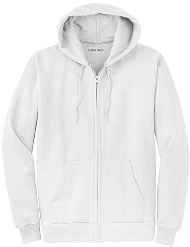 Joe's USA フルジップパーカー - フード付きスウェットシャツ 28色 サイズS-5XL US サイズ: Medium カラー: ホワイト