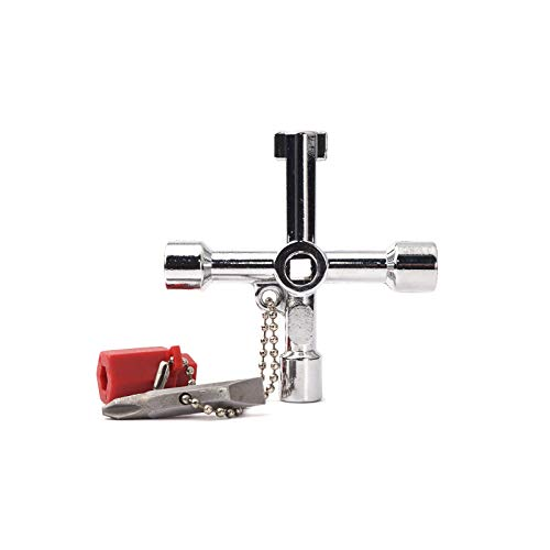 Llave Twin multifunci/ón llave universal para gabinete de control llaves de torsi/ón para armarios de control Silver ventanas y sistemas de cierre
