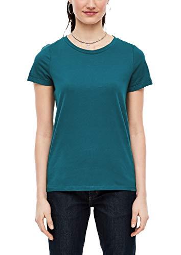 Q/S designed by - s.Oliver Damen 45.899.32.5230 T-Shirt, Petrol, Large (Herstellergröße: L)