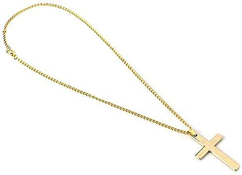 NC190 Collar de Moda Hip Hop Cruz Colgante Collar declaración Encanto joyería tamaño 50 cm