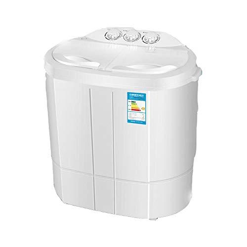 Fudeer Tragbare Waschmaschine, Waschen und Trocknen in Zwei Modi, halbautomatische kompakte Waschmaschine mit Zwei Motoren und energiesparender Stummschaltung.