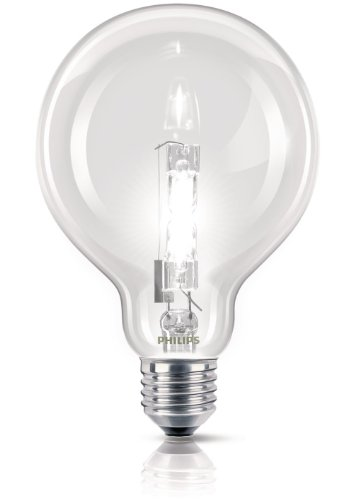 Philips Ampoule EcoHalogène Globe Culot E27 70 Watts consommés Equivalence incandescence : 92W