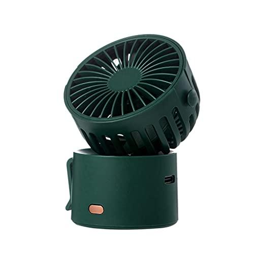 Gazechimp Mini Ventilatore Portatile palmare Personale USB Ricaricabile a Batteria scrivania a 3 velocità Tasca Multiuso per Passeggino da Viaggio Regalo per - Verde