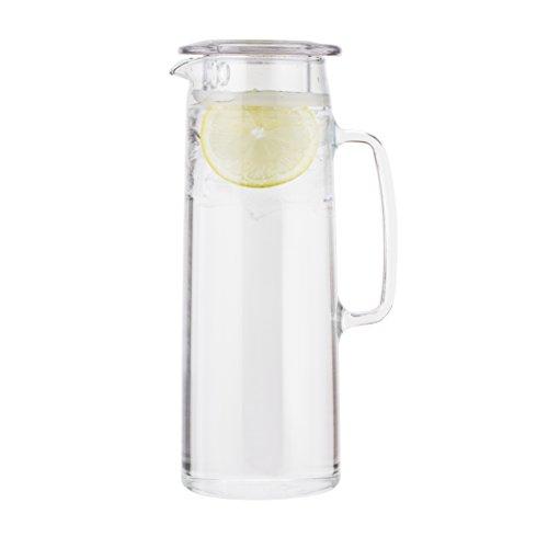 Bodum Biasca Infuser Kanne mit Filterdeckel, Glas, Transparent, 10 x 14 x 27 cm