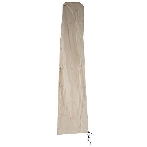 Mendler Schutzhülle HWC für Ampelschirm bis 4,3 m (3x3 m), Abdeckhülle Cover mit Reißverschluss - Creme