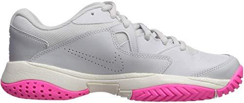 Nike Women's Court Lite 2 Sneaker, Pure Platinum/Racer Blue - Metallic, 8.5...