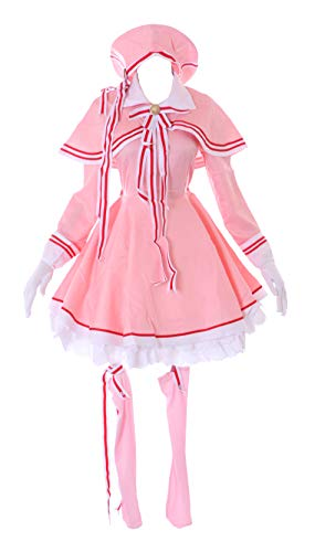 Kawaii-Story MN-142 Sakura Card Captor Rosa Kleid Cape Mütze 9-Teile Lolita Kostüm Cosplay (M)