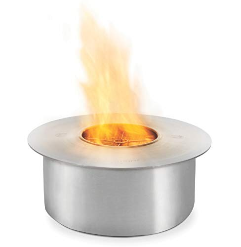 Lowest Price! EcoSmart Fire AB8 - UL Listed Ethanol Burner - Fire Pit Burner - Stainless Steel…