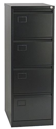 office hippo Oficina hipopótamo Bisley 4cajón archivador, Color Negro, Metal