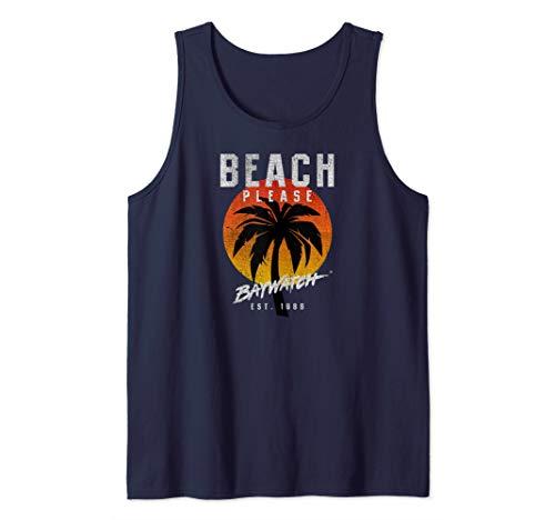 Baywatch Beach Please Tank Top, 5 Colors, Men, Women