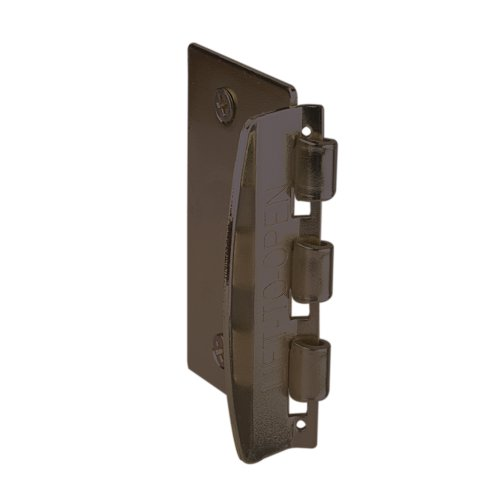 Prime-Line Products Prime-Line U 10321 Flip Action Door Reversible Bronze Privacy Anti-Lock Out Screw for Child Safe Mode, 2-3/4
