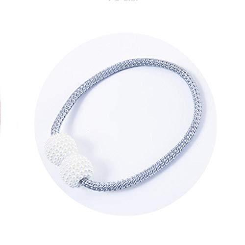 HNLHLY Parel gordijn magneet gordijn clip eenvoudige gordijn decoratie 2 stks