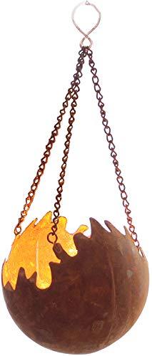 Edelrost Hänger Feuerkugel Feuerball D11 Rost Metall