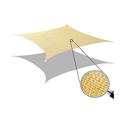 GLORYA Shade Sail - 12' x 16' Rectangle UV Block Shade Cloth - Water & Air Permeable Awning - Permeable Canopy Pergolas Top Cover for Outdoor Patio Garden Sand