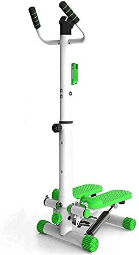 Equipo para el hogar Engranaje Paso a Paso con apoyabrazos Pérdida de Peso Bicicleta de montaña Ciclismo en casa Dispositivo de Ejercicios Multifuncional (Color: Verde Tamaño: 39cm * 32cm * 96cm)