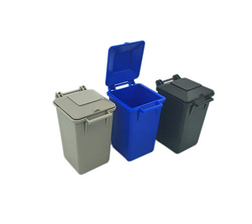 Nuanmu Garbage Can Set 3 Color Small Trash Can Garbage Truck Toy (Style5)