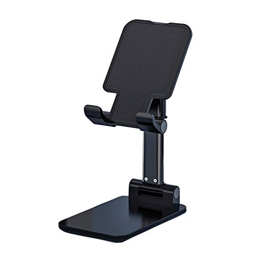 Yihaifu Plegable telescópica Soporte para teléfono móvil telescópica teléfono teléfono Base de Altura Ajustable ángulo del teléfono Celular Antideslizante Soporte, Negro
