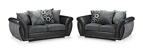 Honeypot - Sofa - Shannon - 3 Seater - 2 Seater - Armchair - Swivel chair - Corner - Black - Fabric (3 + 2 Seater)