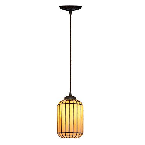 YALIXING Candelabros de Color - Tiffany Style Chinese Simple Dining Chandelier Cafe Bar Lámpara de decoración Lámpara de una Sola Cabeza pequeña araña Luces Creativas de decoración del hogar