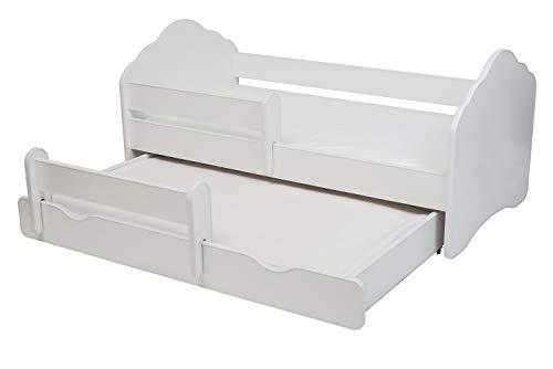 Cama doble para niños 'FALA II' Dimensiones 140 x 70 cm con colchón y barrera protectora