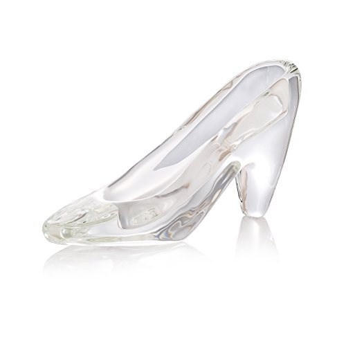 Crystal Super Crystal Cinderella's Slipper Figurine,Collection Cut Glass Decorative Statue Animal Collection,Paperweight Home Decorations.(Clear) (Cinderella's Slipper) (Cinderella's Glass Slipper)